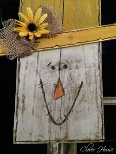Clover House: Fence Picket Scarecrow