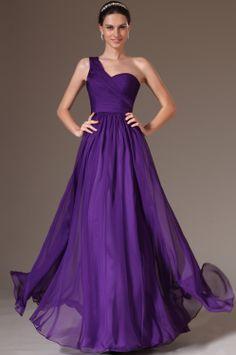 eDressit 2014 New Purple Simple One-Shoulder Lace Back Prom Dress (00143706)