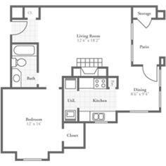 One Bedroom Diplomat 900 sqft