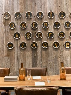 Inspire creativity at your next board meeting. Check out the over-sized typewriter art in this meeting space at Kimpton Hotel Van Zandt.