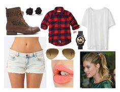 Untitled #267 by hayley-d-arsenault on Polyvore featuring Hollister Co., Chicwish, Billabong, Michael Kors, Ray-Ban, Charlotte Tilbury and Marc by Marc Jacobs