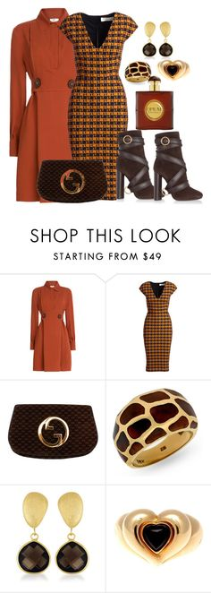 """Fall colors"" by ellenfischerbeauty ❤ liked on Polyvore featuring Fendi, Victoria Beckham, Gucci, Collette Z, Van Cleef & Arpels, Yves Saint Laurent and Tom Ford"