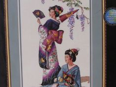 """DIMENSIONS GOLD COLLECTION CT CROSS STITCH """"JEWELS OF THE ORIENT""""GEISHAS  #3898 #Dimension #Sampler"""
