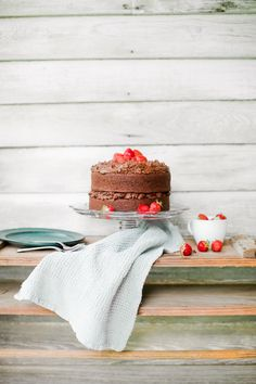 Buttercream Chocolate Cake #recipe