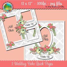 Designer Overlay Wedding Boho Scrapbook Quick by Beauladigitals