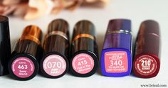 Lip colors for blondes with blue eyes and fair skin. Lipstick. Rimmel London. Revlon