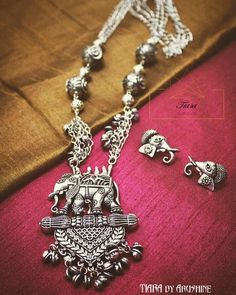 92.5 Silver Oxidised Necklaces | Silver jewelry, Indian jewelry and Gold