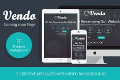 Vendo – Video Coming Soon Template by webyzona on @creativemarket