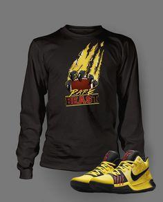 c4484588b03a38 Long Sleeve T Shirt To Match Kyrie 3 Bruce Lee Shoe Custom Mens Tee Design  S M L