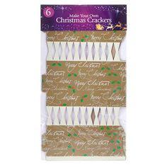 Make your Own Christmas Crackers | Poundland