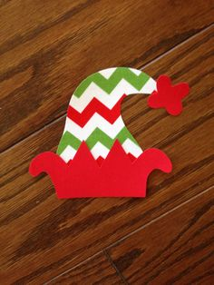 Elf Hat Iron On Applique You Choose Fabric by EllaBaDellas on Etsy