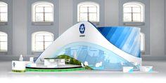 Rosatom exhibition stand on Behance