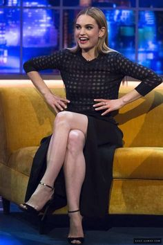 Lily James at The Jonathan Ross Show on March 21st 2015 #Cinderella