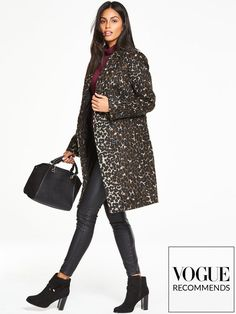 Shop Very for women's, men's and kids fashion plus furniture, homewares and electricals. Boyfriend Coat, Leopard Coat, Kids Fashion, Sequin Skirt, High Neck Dress, Leather Jacket, Skirts, How To Wear, Jackets