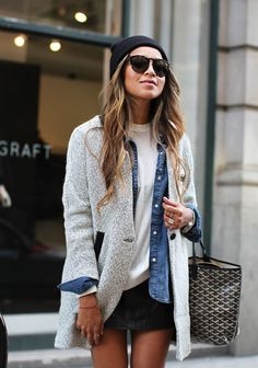 # Super Outfit # T-Shirt - Herbst Kleidung Fashion Mode, Look Fashion, Fashion Trends, Street Fashion, Woman Fashion, Fall Fashion, Fashion 2015, Grey Fashion, Ladies Fashion