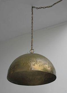 Svend Aage Holm Sørensen; Brass Ceiling Light for Holm Sørensen and Company, 1960s.