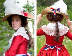 American Duchess:Historical Costuming: V201: How To Make a Hedgehog Hairstyle With Your Own Hair | Historical Costuming and sewing of Rococo 18th century clothing, 16th century through 20th century, by designer Lauren Reeser