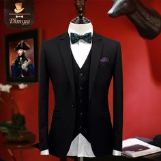 Aliexpress.com : Buy Brand Clothing2017 Latest Spring men black suits 3pcs men formal wedding suits tuxedo slim fit men dress suits boy prom suits from Reliable mens dress suits suppliers on QiekeStyle Store