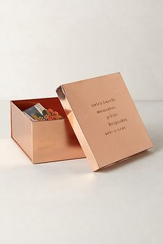 Copper Desk Letter Box for knick knacks Copper Rose, Rose Gold, Copper Color, Pink And Gold, Copper Office, Desk Stationery, Stationary, Color Cobre, Home Organization