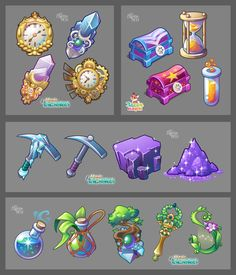 ArtStation - Icons pack 01, Julia Buravlyova