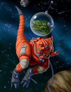 Astronaut Rex by piyastudios on Etsy
