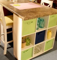 My kitchen table is similar to this. Just need the shelves.