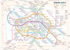New Berlin rapid transit route map by Pasha Omelekhin London Tube Map, Underground Tube, Different Lines, New Berlin, Subway Map, Rapid Transit, S Bahn, Map Design, Graphic Design