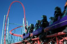 The Xcelerator...Knots Berry Farm, takes your breath away it's so fast at the start!