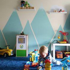 Kinderzimmer, Selbermachen, bauen, einrichten, DIY, Ideen, upcycling, Kind, Zimmer, renovieren, Alpina, kidsroom, Berge, Mountain, Jungenzimmer, Boy, Room,