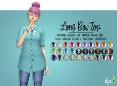 Long Bow Top - Deetron Sims