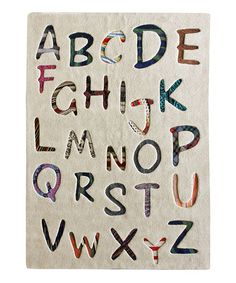 Take a look at this nuLOOM Tan ABC Rug by Cool Spaces: Kids' Furniture on #zulily today!