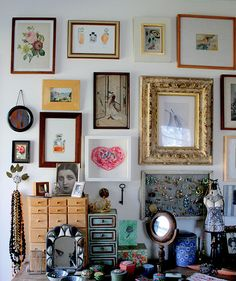 Art wall bedroom by nestdecorating, via Flickr