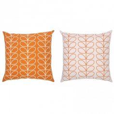 Orla Kiely Linear Stem Orange Cushion Large