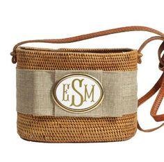 Monogrammed Small Oval Bali Bag  Apparel & Accessories > Handbags > Shoulder Bags
