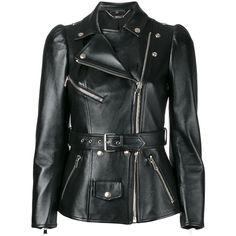 Alexander McQueen Tailored Biker Jacket (£5,115) ❤ liked on Polyvore featuring outerwear, jackets, zipper jacket, moto zip jacket, tailored jacket, rider jacket and alexander mcqueen jacket
