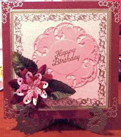 Marianne Creatables Doyley Card Cardmaking, Projects To Try, Happy Birthday, Paper Crafts, Cards, Stamps, How To Make, Happy Brithday, Seals