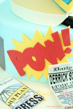 Superman Cake Pow by fabcakelady, via Flickr