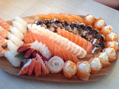Sashimi, Sushi & Salmon Roses @ W Sushi, Guelph, Ontario, Canada.