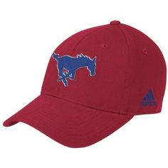 low cost e9416 d109a NCAA SMU Mustangs Structured Adjustable Hat, One Size Fits All, Red adidas.   7.52