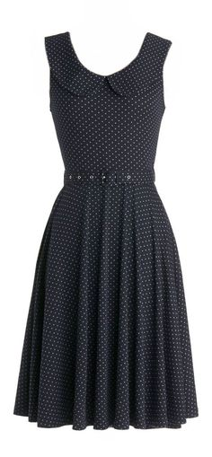 Belted polka dot dress. Love this with a white, yellow or a red sweater or jacket or a jean jacket. I want one