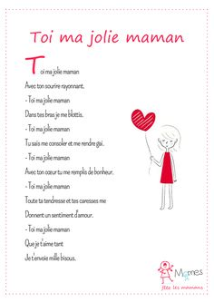 You my pretty mom Mothers Day Poems, Mothers Day Crafts For Kids, Fathers Day Crafts, Gifts For Mom, French Education, Kids Education, Daily 5 Stations, Morhers Day, French Language Learning