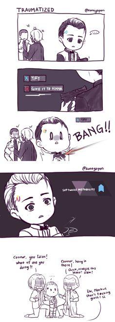 (Mini) Connor, no!! also... Markus, no! pls protecc this child