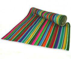 obrusy i podkładki-PASIAK siedem kolorów wiosny (45cm)