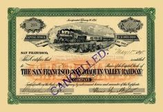 The San Francisco and San Joaquin Valley Railway 12x18 Giclee on canvas