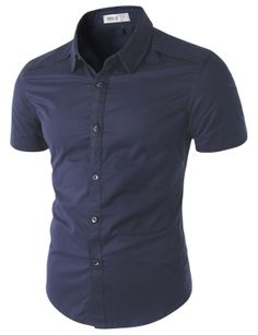 Doublju Casual Short Sleeve Shirt with Piping Detail (CMTSTS04) #doublju