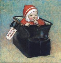 New Year's Baby, 1910 Cover illustration for Good Housekeeping (January 1925) by Jessie Wilcox Smith