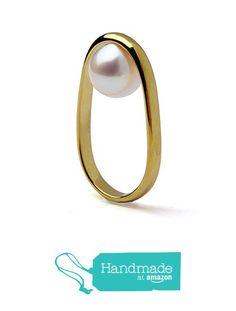 14k Yellow Gold Large 12mm Round Freshwater Cultured White Pearl Engagement Ring, Geometric Modern Ring Size 4 to 10 from Arosha http://www.amazon.com/dp/B01BBZPTAS/ref=hnd_sw_r_pi_dp_BuS.wb067HAJW #handmadeatamazon