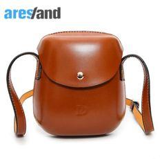 0c011edd566a 2 Color New Women Bag Trending Personality Retro Mini Shoulder Round Bag  Lovely Leisure Saddle Bag Messenger Bag Pack Hot Sale