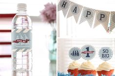 $25 Planning an UNFORGETTABLE BIRTHDAY? Nautical party decoration—COMPLETE PARTY PACKAGE—red white and blue sailor 1st birthday theme. 30% SAVINGS!