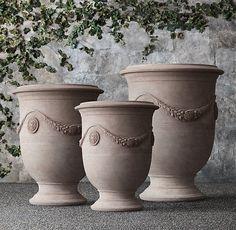 """Impruneta Anduze Vase Small: 22½"""" diam., 28¼""""H; 57 lbs. Member $855 in Grey"""